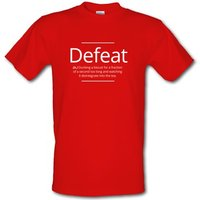 Defeat male t-shirt.