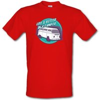 Life Is Better In A Camper male t-shirt.