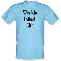 Worlds Tallest Elf male t-shirt.