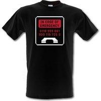 In Case Of Emergency male t-shirt.