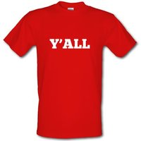 Y'all male t-shirt.
