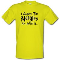 I Suspect The Nargles Are Behind It male t-shirt.