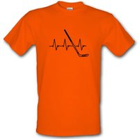 Ice Hockey Heartbeat male t-shirt.