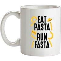 Eat Pasta Run Fasta mug.
