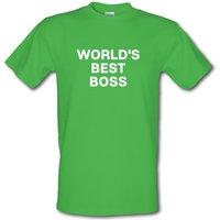 World´s Best Boss male t-shirt.