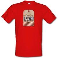 London Luggage Tag male t-shirt.