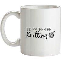 I'd Rather Be Knitting mug.