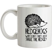 Hedgehogs : Why Don't They Just Share The Hedge mug.