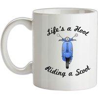 Life's A Hoot Riding A Scoot mug.