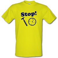 Stop! Hammer Time male t-shirt.