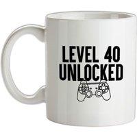 Level Forty Unlocked mug.
