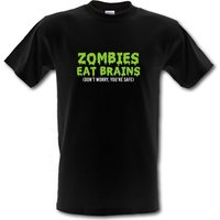 Zombies Eat Brains male t-shirt.