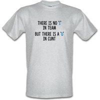 There's No 'I' In Team male t-shirt.