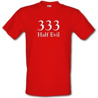 333 Half Evil Male T-shirt.
