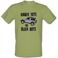 Bigger Toys For Older Boys male t-shirt.