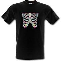 Sugar Skull Ribs male t-shirt.