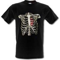 Rib Cage Heart male t-shirt.