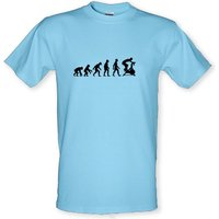 Evolution Of Man Spin male t-shirt.