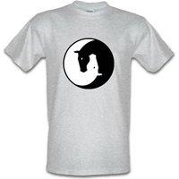 Ying Yang Horses male t-shirt.