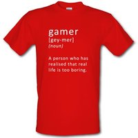Funny Definition of a Gamer male t-shirt.