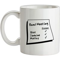 Band Meeting mug.
