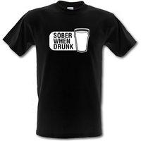 Sober When Drunk male t-shirt.