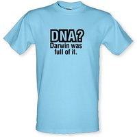 DNA Darwin Was Full Of It male t-shirt.