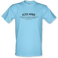 Iceland Reducing Illegal Immigration Since 2010 male t-shirt.