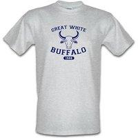 Great White Buffalo male t-shirt.