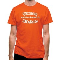Woman Spelt Backwards Is Kitchen classic fit.
