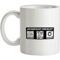Archeology Checklist mug.