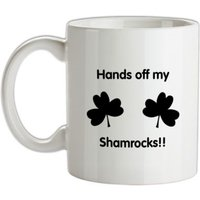 Hands off my shamrocks!! mug.