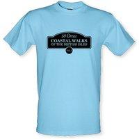 Fifty Great Coastal Walks Of The British Isles male t-shirt.