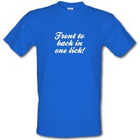 Front to back in one lick male t-shirt.