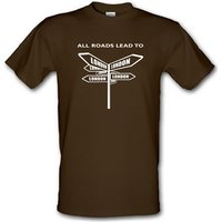 All Roads Lead To London Male T-shirt.