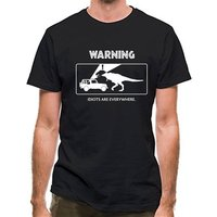 Warning Idiots Are Everywhere classic fit.
