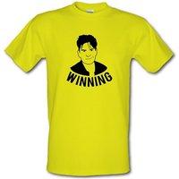 Winning Charlie Sheen male t-shirt.