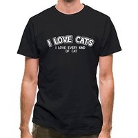 I Love Cats I Love Every Kind Of Cat classic fit.