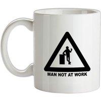 Man Not At Work mug.