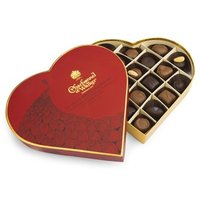 Heart shaped milk & dark chocolate selection gift box 255g - Best before: 6th August 2018