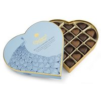 Milk & dark sea salt caramel chocolate hearts gift box 295g - Best before: 6th August 2018