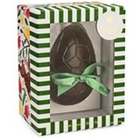 Dark chocolate Easter egg with dark chocolates