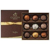 Godiva, Signature Assortment, 9 Chocolate Truffles Gift Box