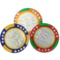 Chocolate casino poker chips - Bag of 75