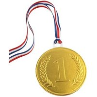 100mm Gold chocolate medal - Single medal
