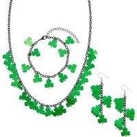 Claire's 4 Piece St. Patrick's Day Shamrock Jewelry Set - St Patricks Day Gifts