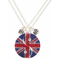 Claire's Best Friends British Flag Yin Yang Symbol Necklaces - Necklaces Gifts