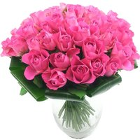 Luxury 50 Pink Roses Bouquet