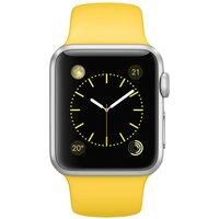 Apple WATCH Sport 1. Generation 38mm silbernes Aluminiumgehäuse gelbes Sportarmband