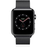 Apple WATCH Series 3 GPS + Cellular 42mm spaceschwarzes Edelstahlgehäuse mit spaceschwarzem Milanaisearmband